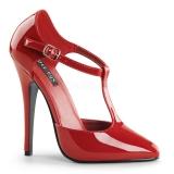 Escarpins d'Orsay rouges vernis talon aiguille