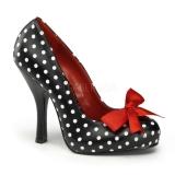 Escarpins polka noir et blanc
