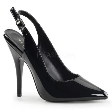 Escarpin talon ouvert noir vernis seduce-317
