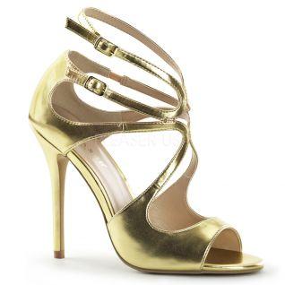 Chaussures sexy sandales dorées à brides talon fin amuse-15
