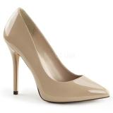 Chaussures vernies escarpins coloris caramel talon aiguille amuse-20