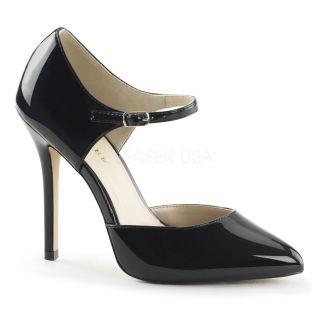 Escarpins d'Orsay noirs vernis amuse-35