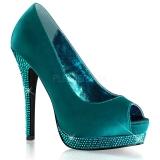 Escarpins Peep Toe coloris turquoise