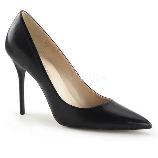 Chaussures talon aiguille escarpins noirs bout pointu classique-20