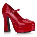 Escarpins Plateforme à Bride Rouges Vernis DOLLY-50
