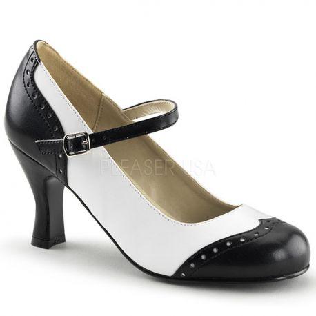 Chaussures à petit talon escarpins gangster à bride flapper-25