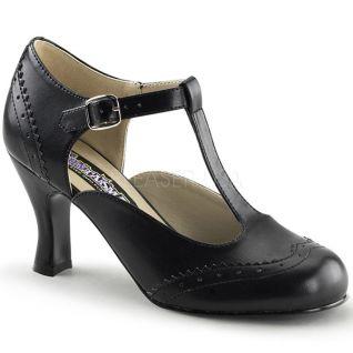 Chaussures à petit talon escarpins d'Orsay noirs flapper-26