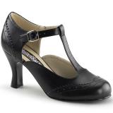Escarpins d'Orsay noirs petit talon
