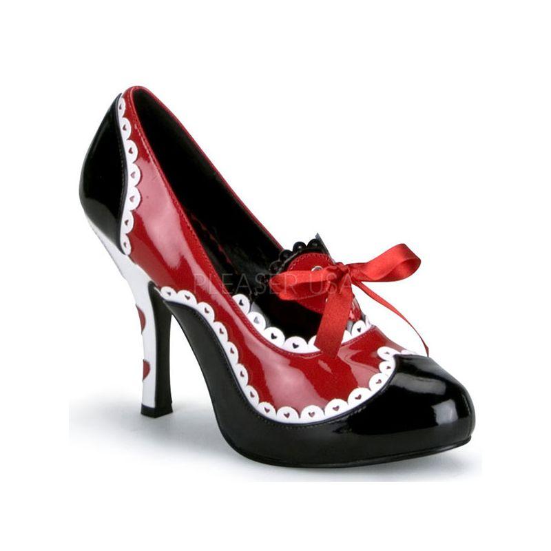 chaussures originales l 39 escarpin noir et rouge lacet funtasma en boutique. Black Bedroom Furniture Sets. Home Design Ideas