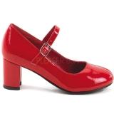 Escarpins écolières rouges vernis