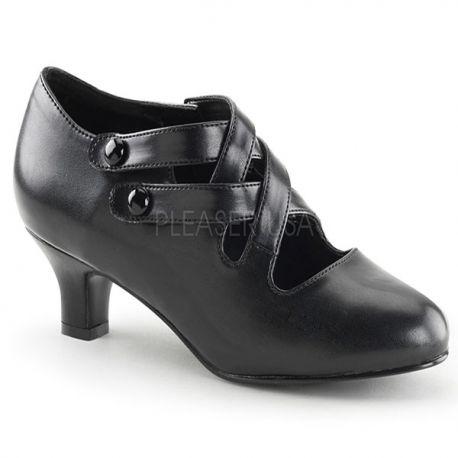 Chaussures femme escarpin coloris noir petit talon dame-02
