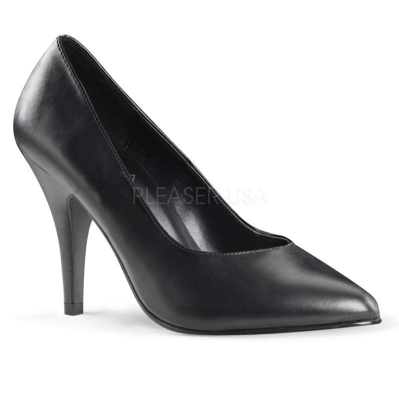 escarpin noir femme pied large chaussure talon fin. Black Bedroom Furniture Sets. Home Design Ideas