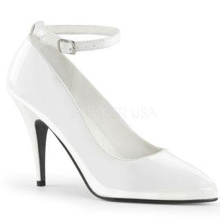 Escarpins Classiques à Bride Blanc Vernis Talon Haut Vanity-431