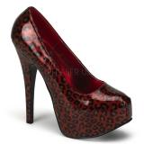 Escarpins coloris léopard rouge