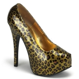 Escarpins imitation léopard doré