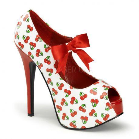 Chaussures escarpins à lacet temps des cerises talon haut teeze-25-3