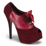 Escarpins en velours rouge