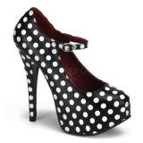 Chaussures à pois escarpins à brides cheville talon haut teeze-08