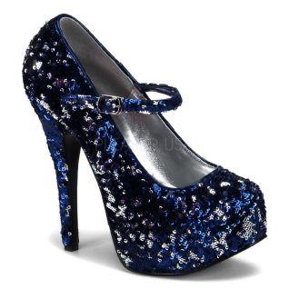 Escarpins habillés paillettes bleues