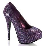 Escarpins strass violet talon haut