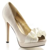 Chaussures en satin escarpin Peep Toe champagne lumina-42