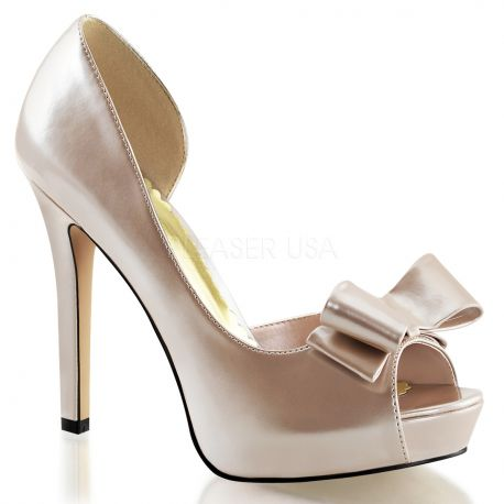 Chaussures Peep Toe escarpins d'Orsay champagnes lumina-32