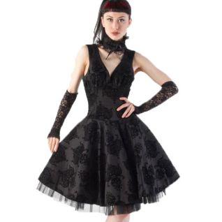 Robe gothqiue évasée coloris noir