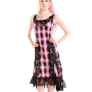 Robe petit carreau rose