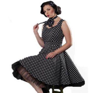 Robe polka style rétro