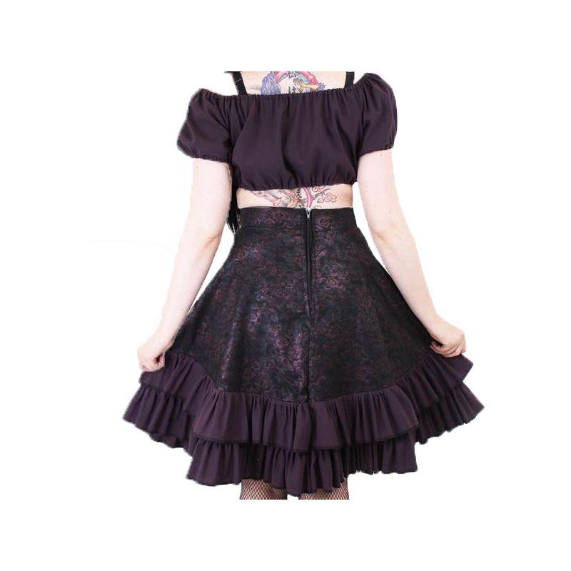 jupe vas e mi longue noire et rose style gothique. Black Bedroom Furniture Sets. Home Design Ideas