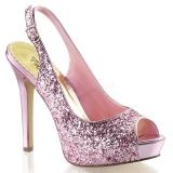 Nu-pieds à paillettes roses lumina-28g