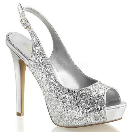 Chaussures à strass argentées lumina-28g