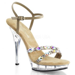 Sandale à lanière coloris caramel lip-133