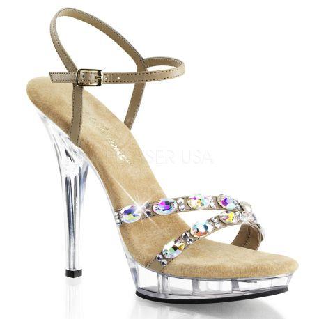 Sandales caramel à talon lip-133