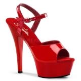 Sandales Sexy Rouges Vernies Talon Plateforme KISS-209