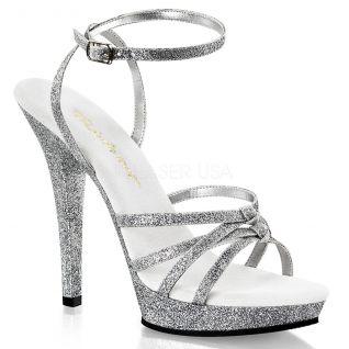 Chaussures femmes couleur argent sandales à brides talon fin lip-128