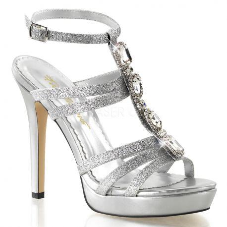 Chaussures à brides sandales strass argent talon fin lumina-22