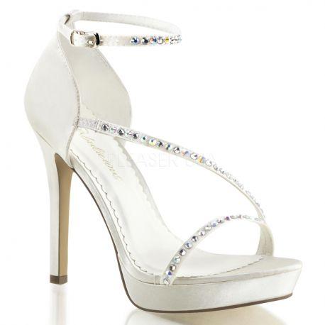 Chaussures à paillettes ivoires lumina-26
