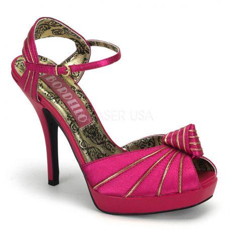 Sandales Habillées en Satin Fushia Talon Haut PREEN-16