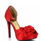 Sandales à lanière en satin rouge lumina-36