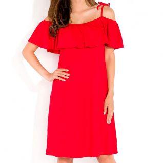 Robe décontractée mi-longue rouge pétillant