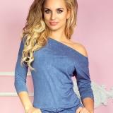 Robe blue-jean à manche mi-longue