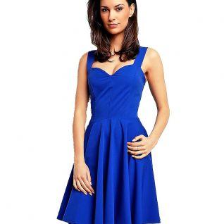 Robe bleu à encolure forme de coeur