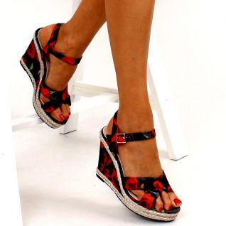 Sandale compensée couleur d'été