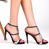Sandales noires fines lanières
