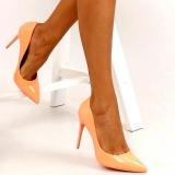 Escarpins oranges talon aiguille