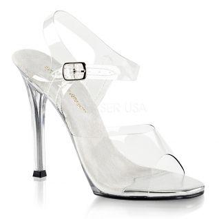 Sandales transparente talon haut
