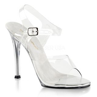 Sandale sexy transparente talon fin GALA-08