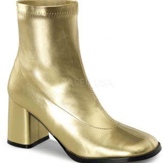 Bottines dorées style années 70