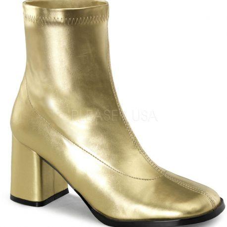 Bottines dorées style années 70 gogo-150